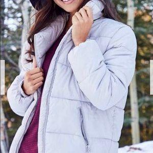 Light Grey Puffer Coat